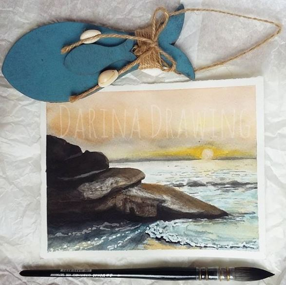 Sea sunset sea