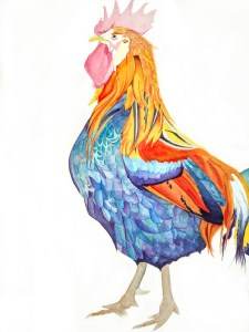 something i am working on at the moment another hen to be added on the right side, hence the rooster