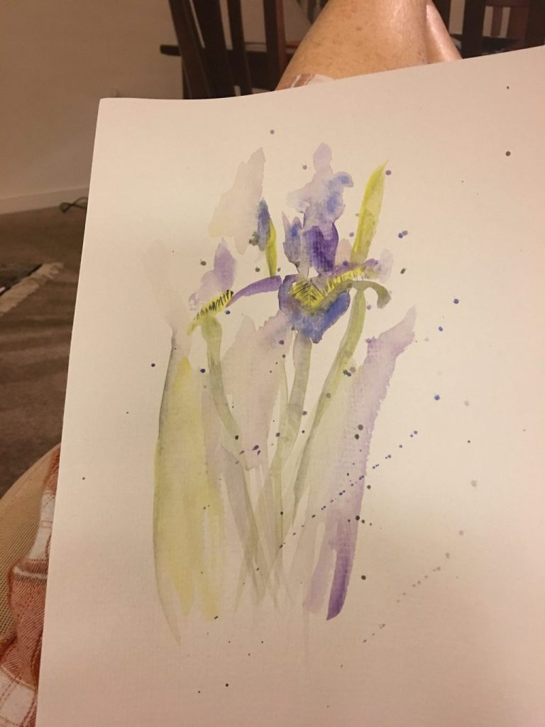 New watercolor artist… never painted nor drew but was given paints & fixins' for Christm