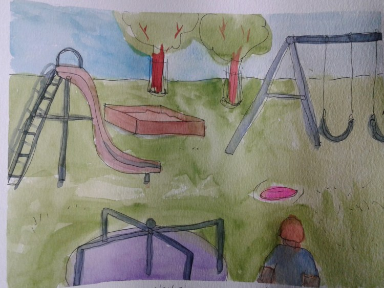 Finally, all caught up! Playground, pizza and scary trees! Enjoy! 20180423_21505720180423_2150462018