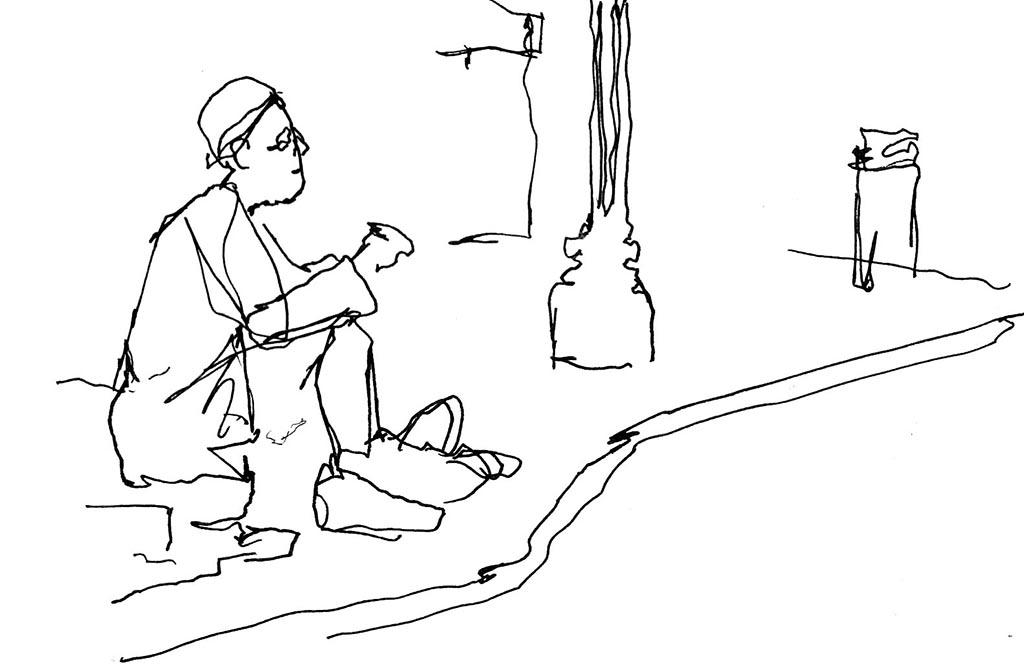 Urban Sketch by Mark Anderson - Doodlewash - Urban Sketchers KC