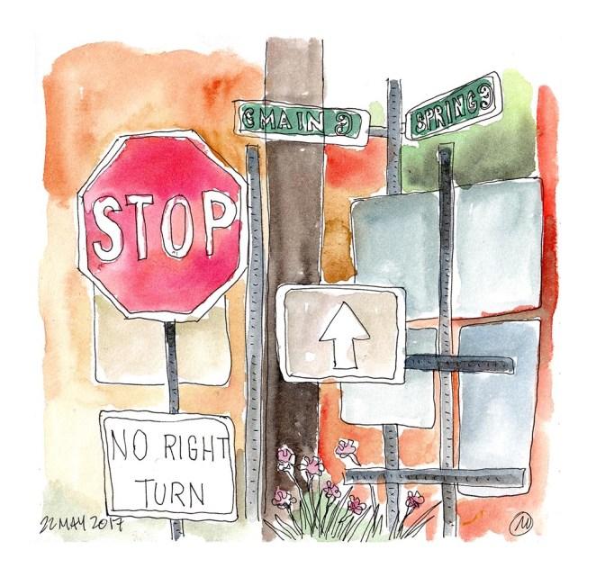 Watercolor Sketch by Mark Anderson - Doodlewash - Urban Sketchers KC