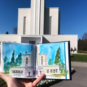 A very nice sunny 😎 afternoon and a bit less than 30 minutes to sketch the temple 8DE9CCF8-A
