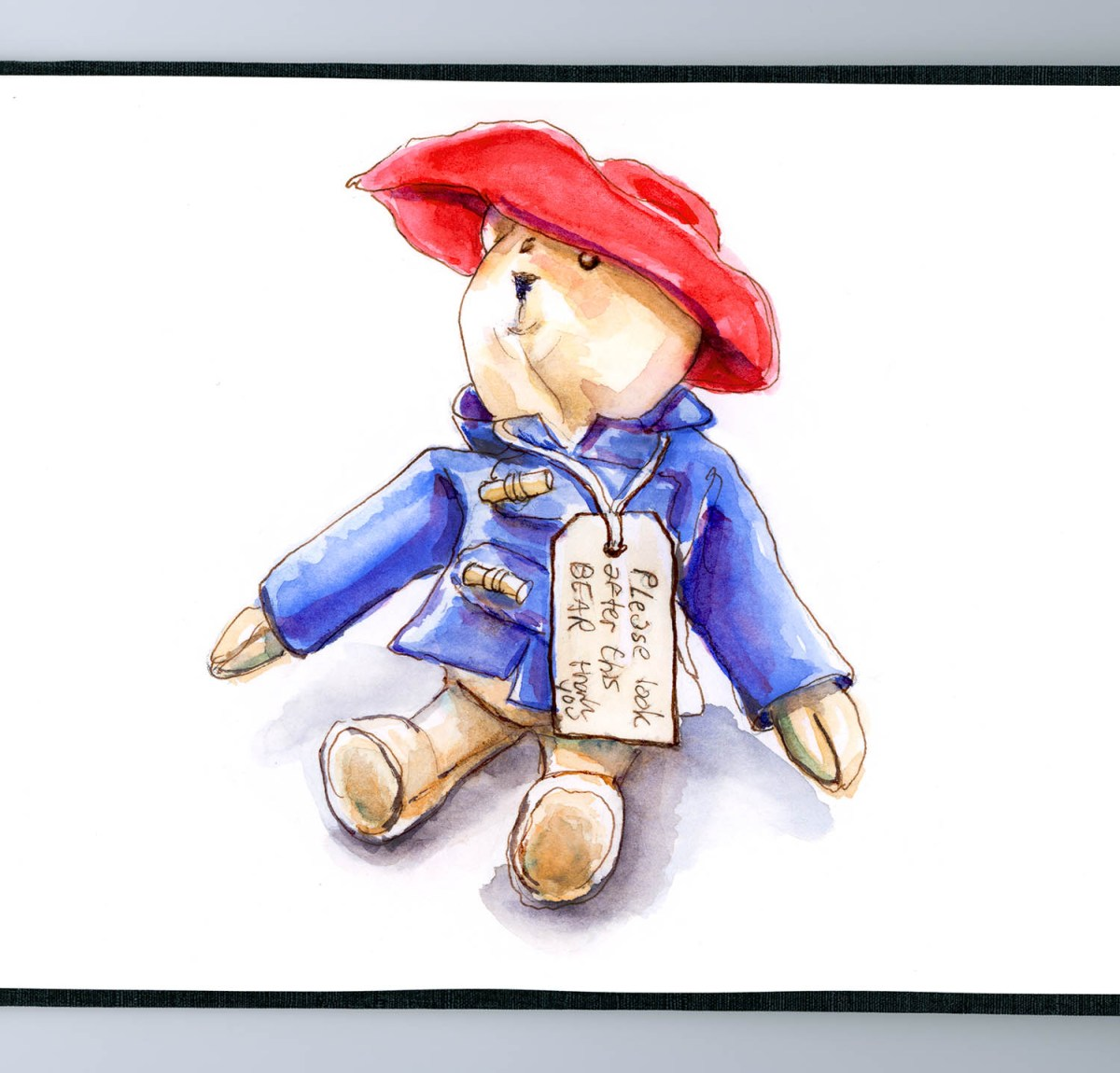 Day 12 - The Gift Of Paddington Bear - #doodlewashApril2018 Doodlewash