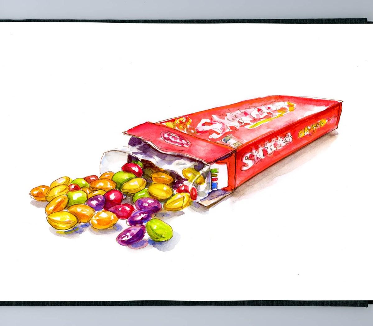 Day 17 - Snack VS Treat Skittles - #doodlewashApril2018 Doodlewash