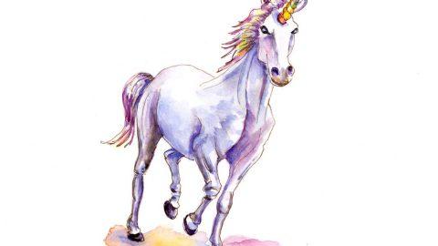 Day 30 - Unicorn Watercolor Illustration - #doodlewashApril2018 - Doodlewash