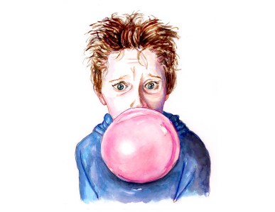 Day 7 - Waiting For The Bubble To Pop Boy Blowing Bubbles - #doodlewashApril2018 Doodlewash
