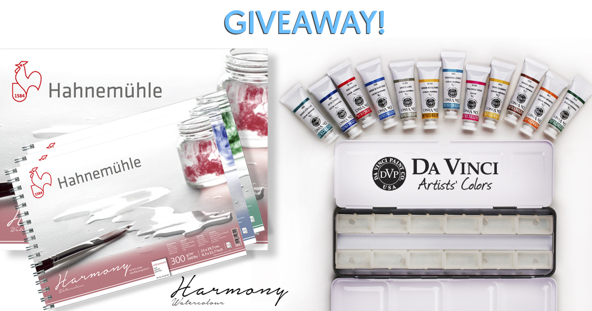 Hahnemühle_Harmony_Da_Vinci_Watercolor_Giveaway_April