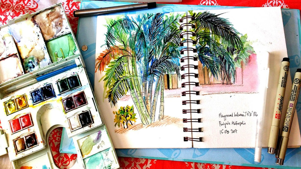 Watercolor Sketching by Deboshree - Doodlewash - #WorldWatercolorGroup