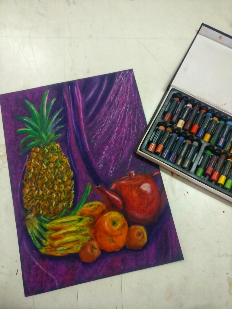 Oil pastels . Still life . IMG_20180312_170650-01