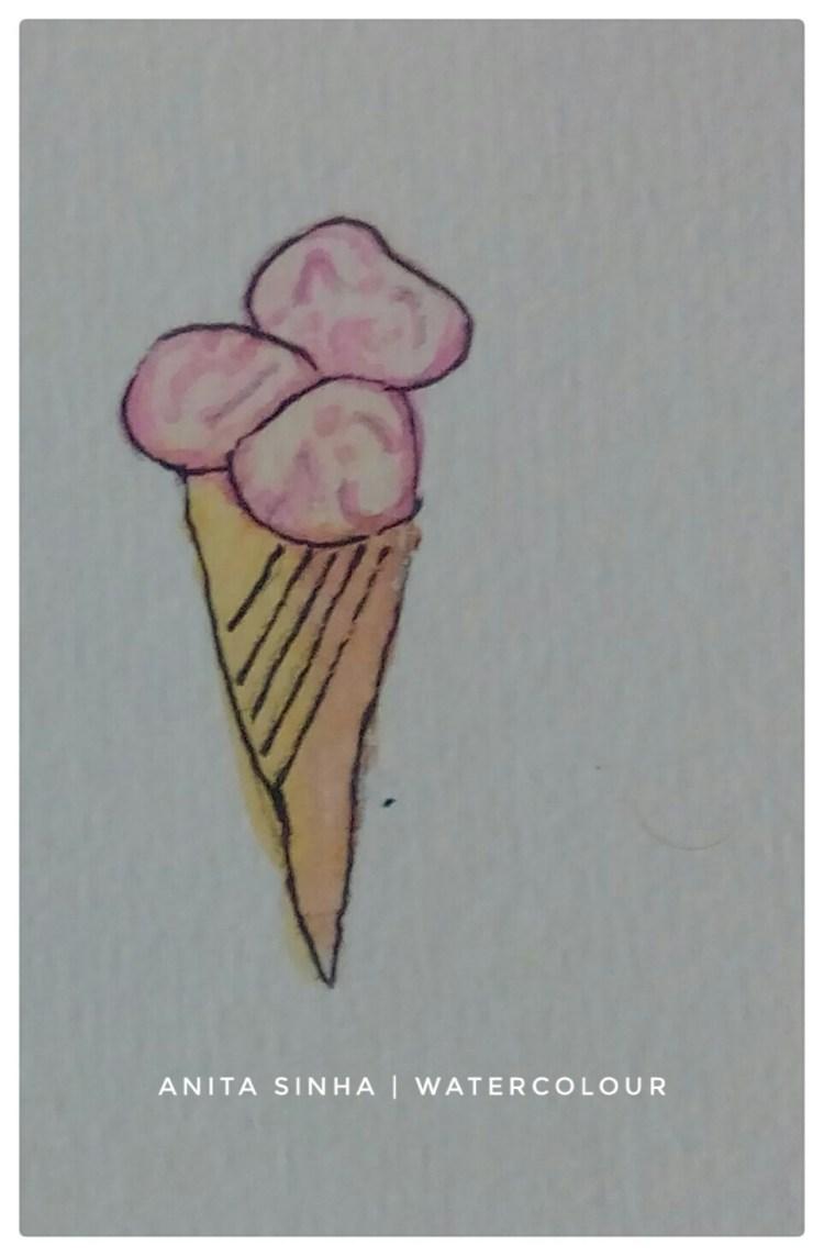 #Day7 #Bubble gum #DoodlewashApril2018 #Bubble gum flavoured ice cream IMG_20180403_184950_171-01
