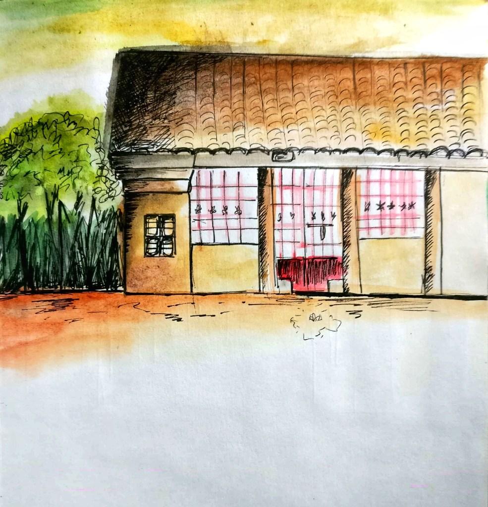 Village sketch . Watercolour. New Doc 2018-04-05_1-01
