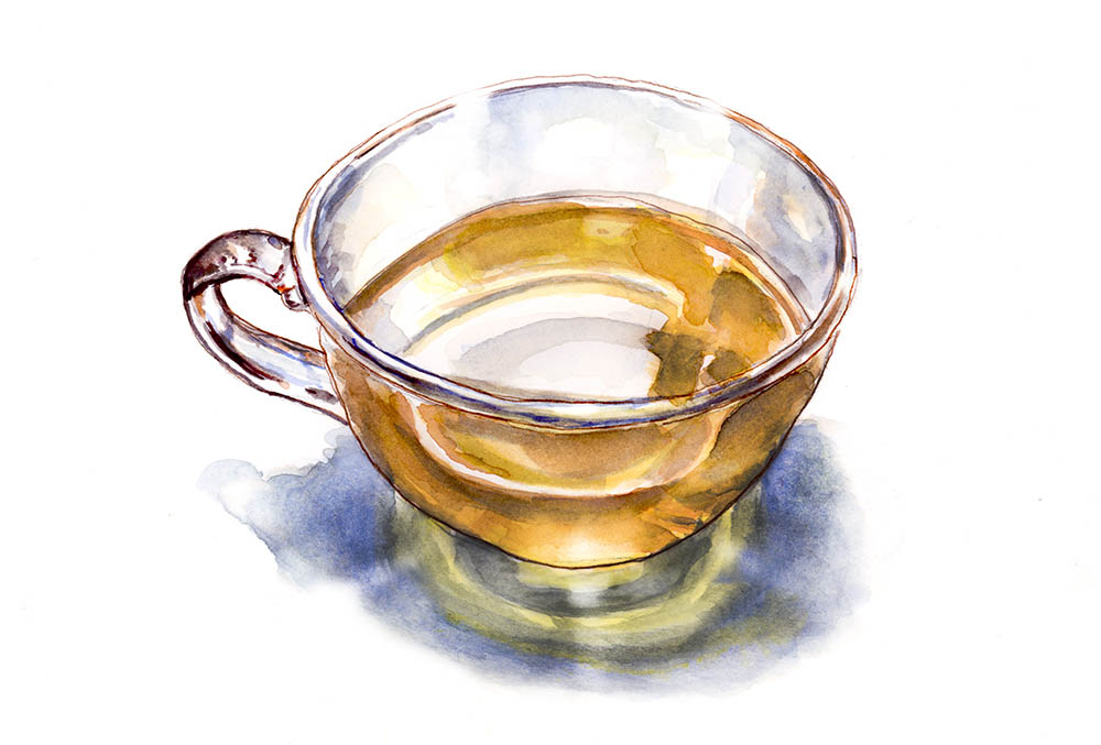 Glass Of Tea Da Vinci Moment ©Doodlewash