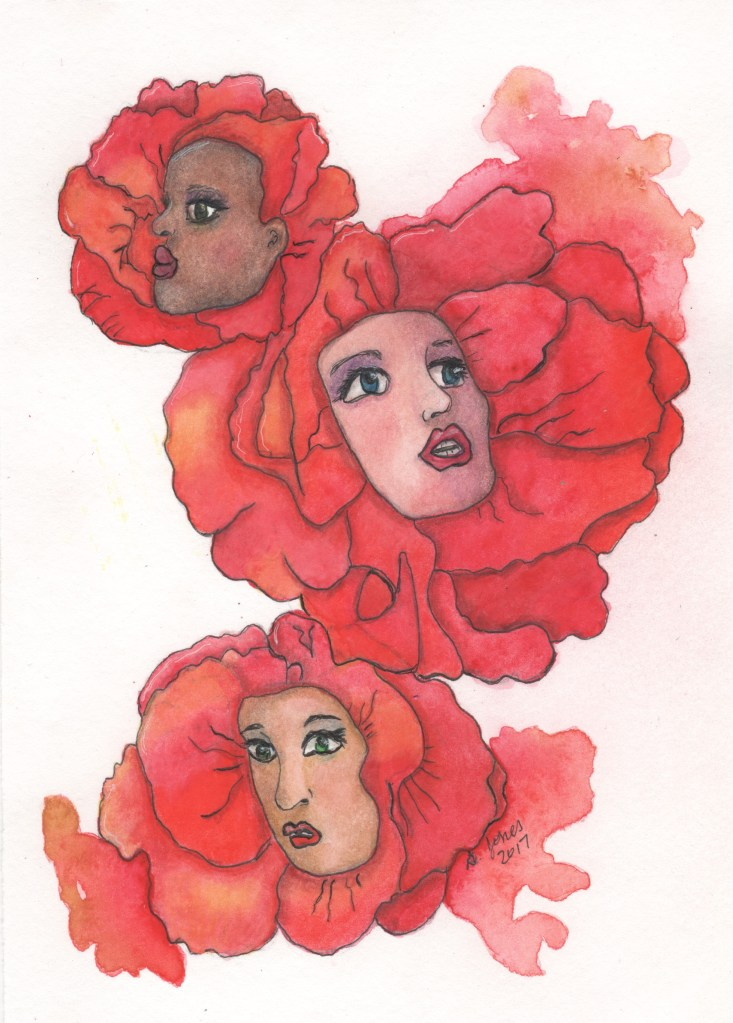 """This drawing is a combination of watercolor and polychromo pencils and is titled """"The Seed Fai"""