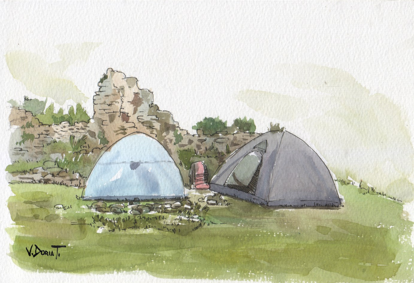 i made these sketches during a camping in an archaeological site in San Juan de Iris (3700 m.a.s.l.)