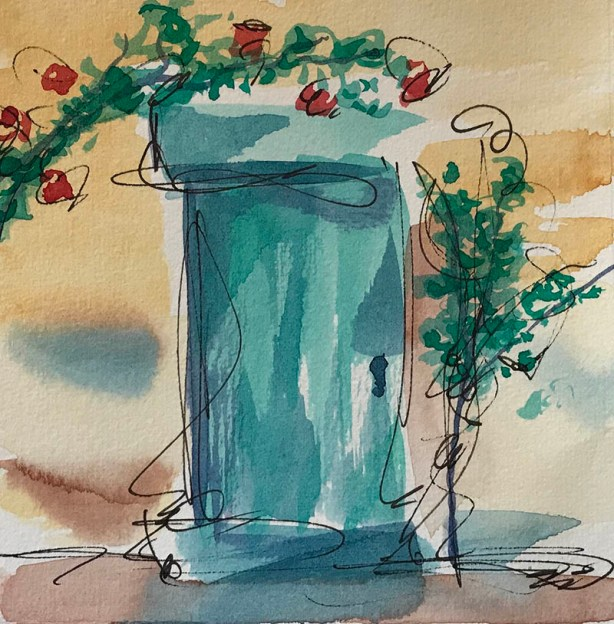 Watercolor Sketch by Judy Wood - #WorldWatercolorGroup