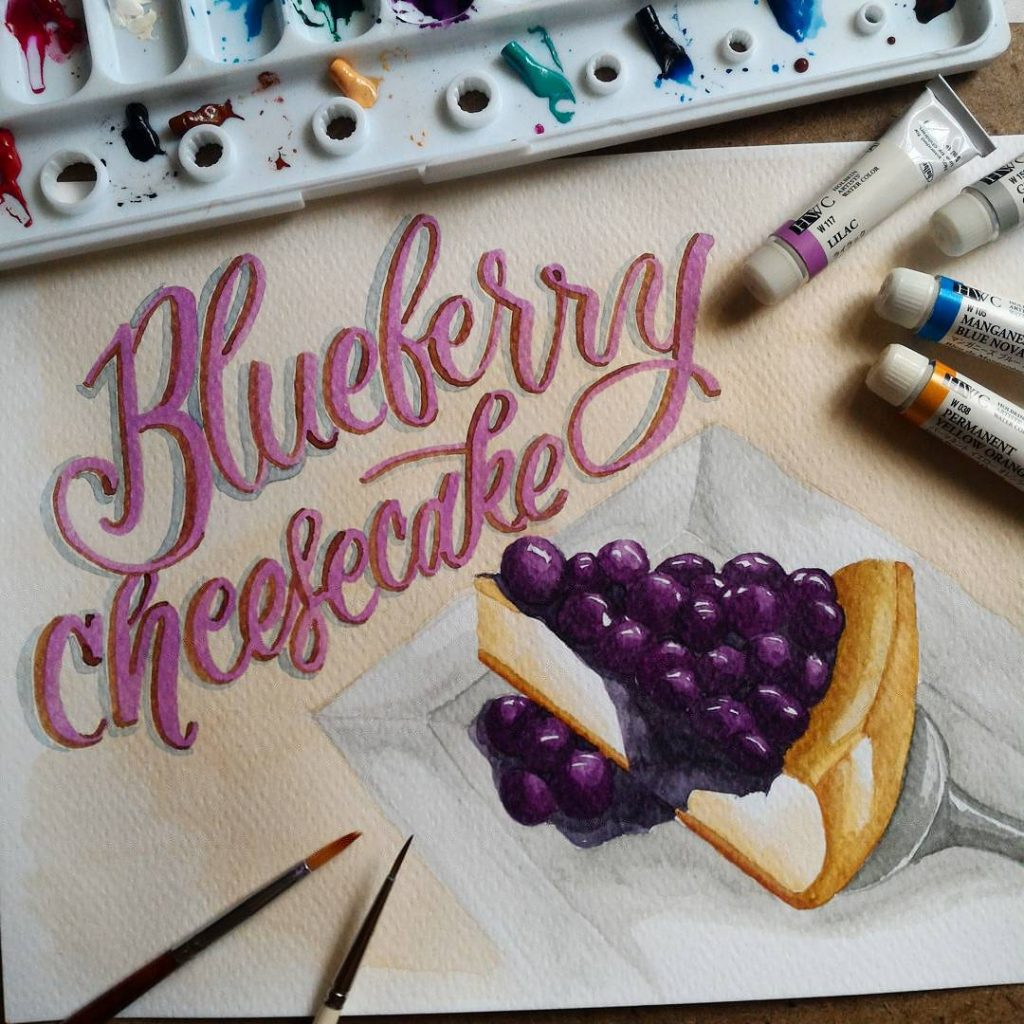 I love painting desserts and this one is my favorite. If I had a choice, I would eat a good serving