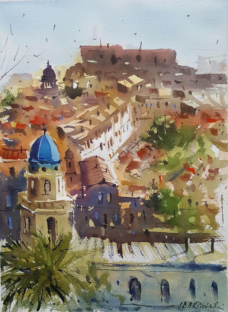 Watercolor Painting by Alexandros Pintilii Karciucas - #WorldWatercolorGroup Doodlewash
