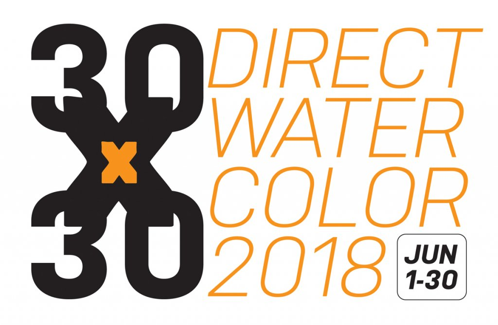 30x30 Direct Watercolor Challenge 2018