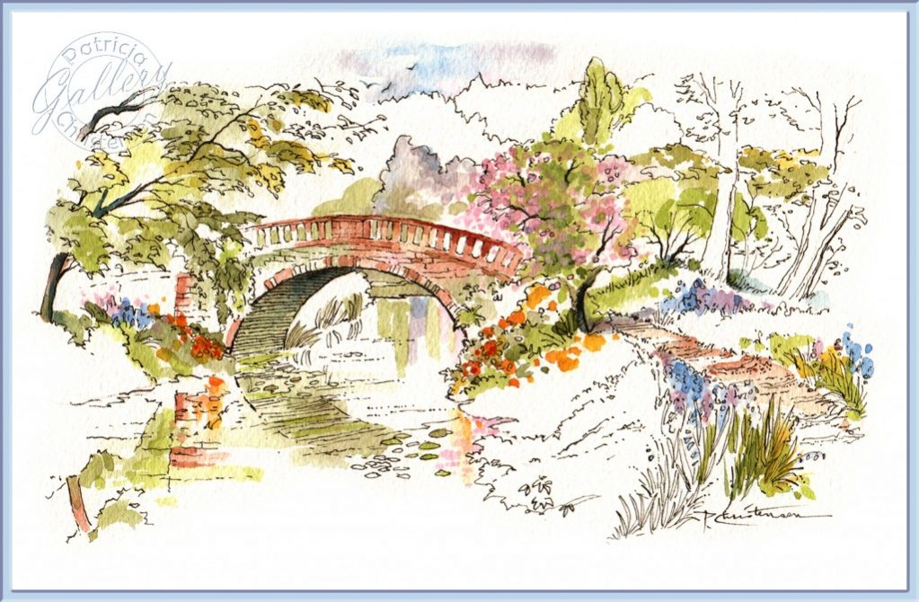 Bridge - Watercolor Painting by Patricia Lee Christensen - Doodlewash