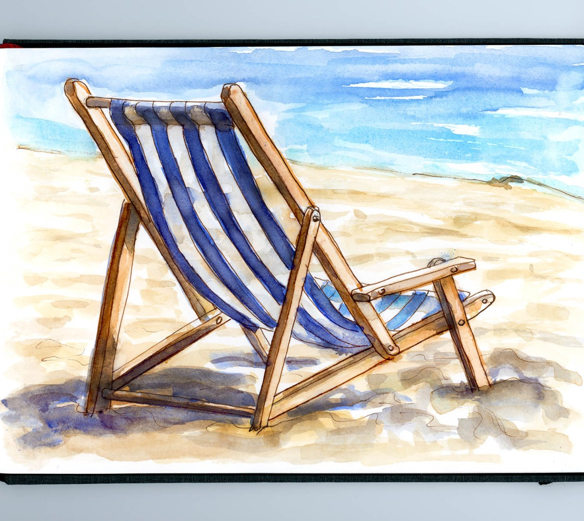 Day 11 - A Day At The Beach - Chair Ocean - #doodlewashMay2018 Doodlewash