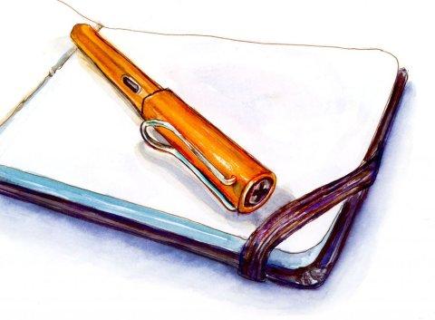 Day 16 - Facing Down A Blank Sketchbook - #doodewashMay2018 Doodlewash