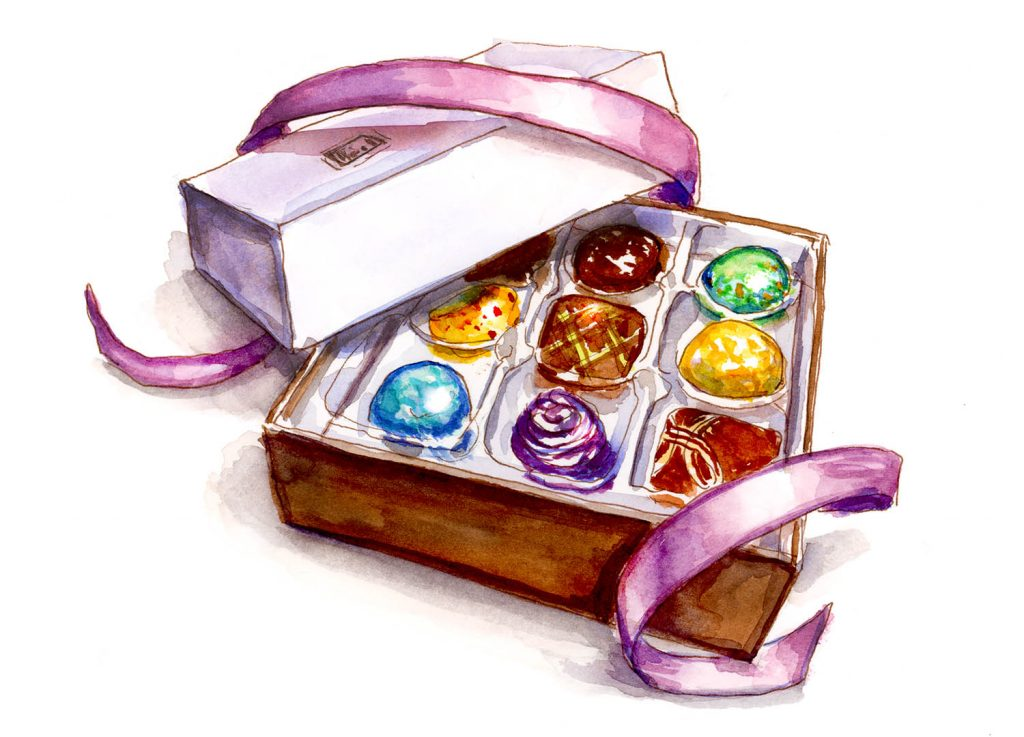 Day 2 - Box Of Gourmet Chocolates - #doodlewashMay2018 Doodlewash