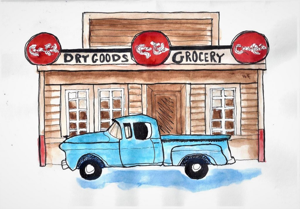 My husbands Birthday Card, he loves old trucks! George Card 2