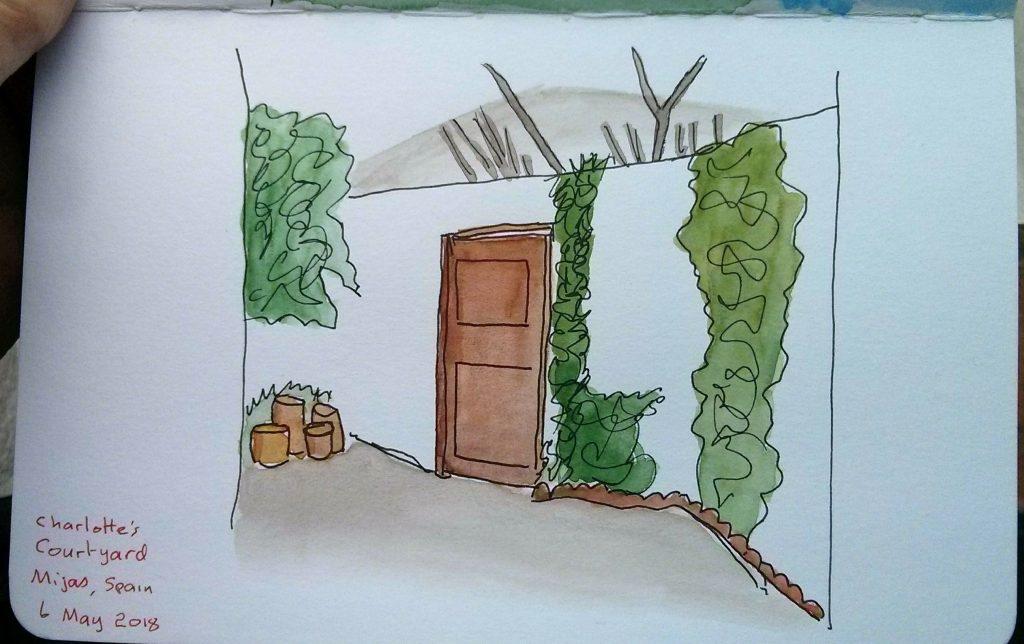 Charlotte's courtyard, Mijas, Spain. IMG_20180507_080305