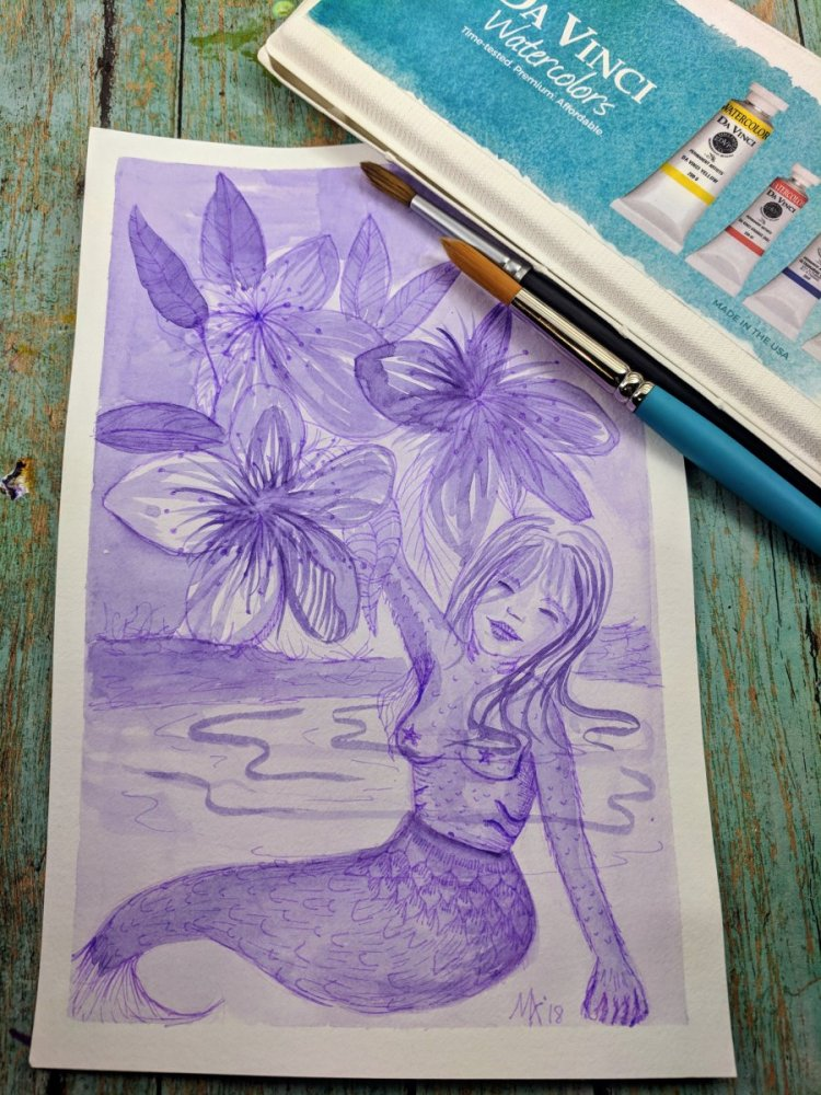 My first Mer-May piece for this year. I was super excited to test out the DaVinci dots I got. #DaVin