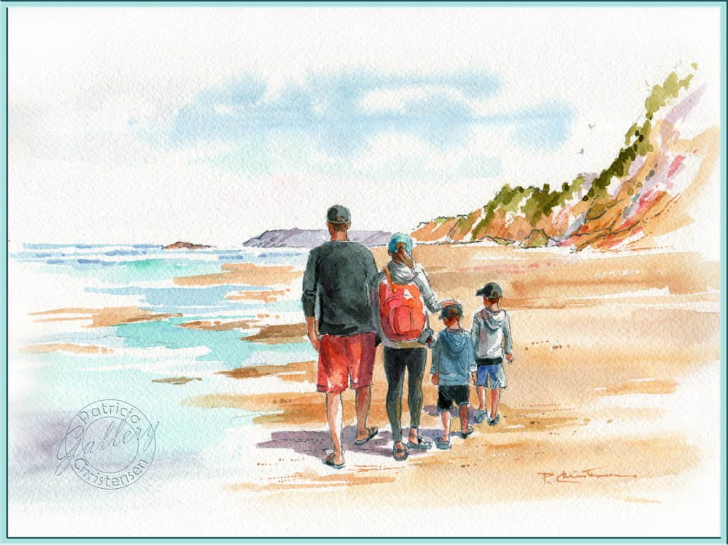 Recently completed of our youngest daughter and her family at Oregon's Hug Point Beach. 9&#824