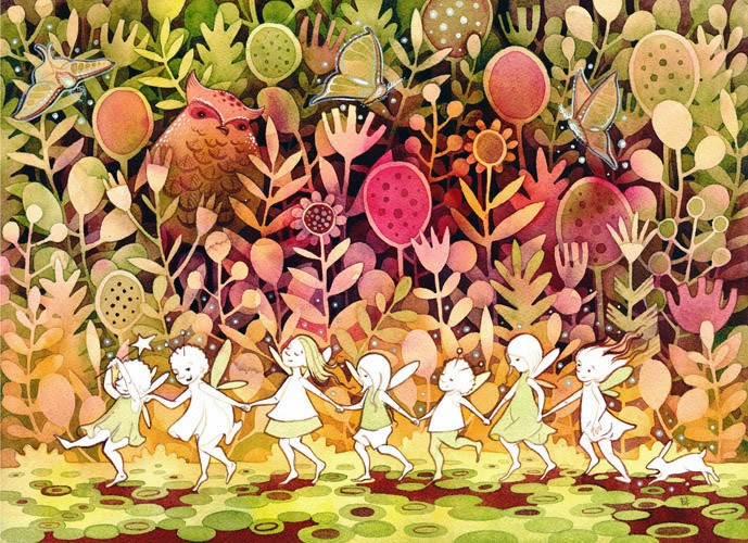 Fairy Children…one of my favorites. I hope to do a children's book sometime in this styl