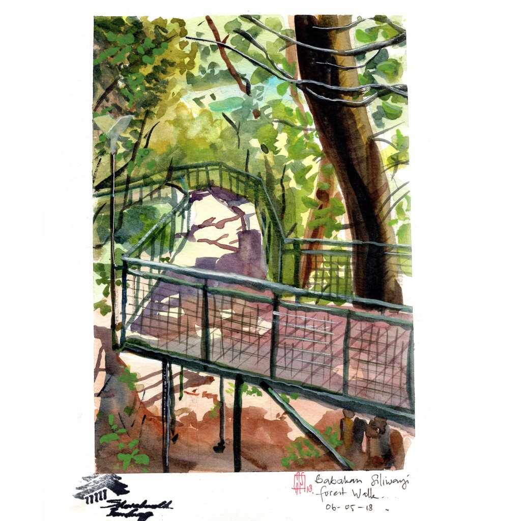 plein air sketch at babakan siliwangi forest walk- bandung earlier this month. AA 1img133