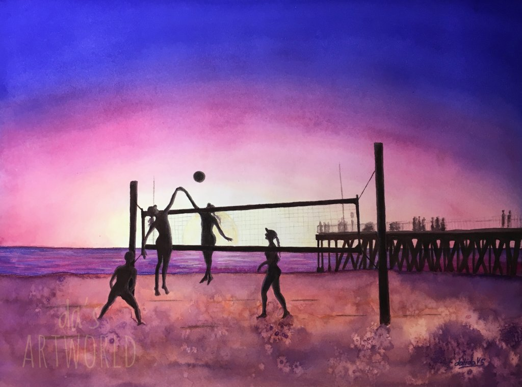 Sunset games – a project I did for a contest in my little beach town, Hermosa beach, describin
