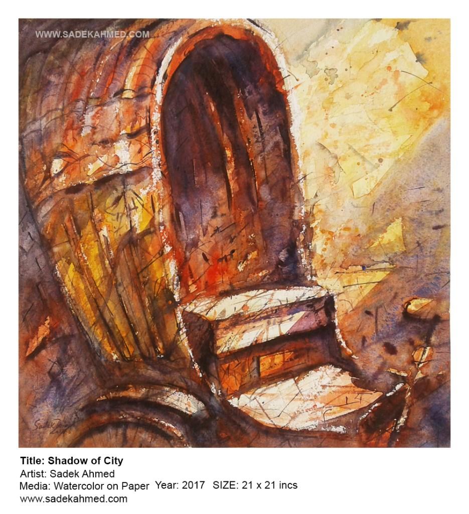 Shadow of Dhaka | watercolor Painting of SADEK AHMED 109