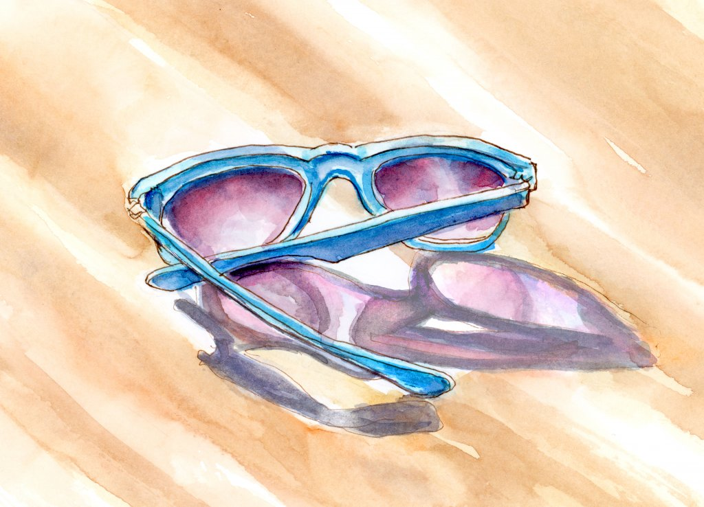Day 1 - Sunglasses On A Sunny Day - #doodlewashJune2018 Doodlewash