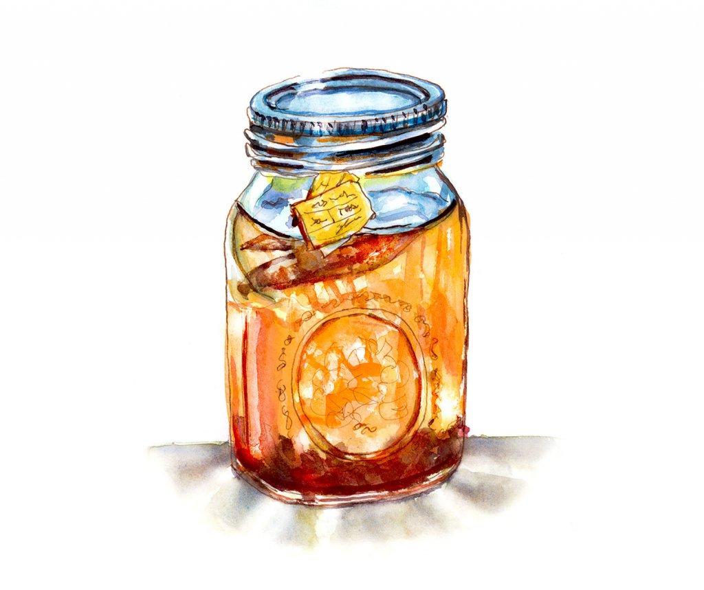 Day 10 - Sun Tea And Other Memories - #doodlewashJune2018 Doodlewash
