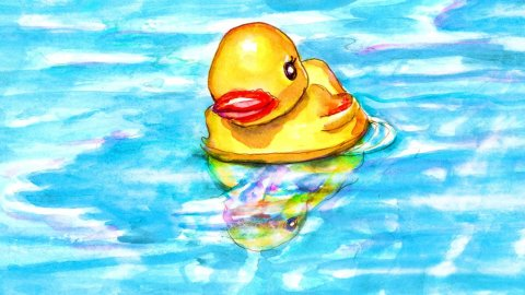 Day 24 - Swimming With Friends Rubber Duck Pool - #doodlewashJune2018 Doodlewash