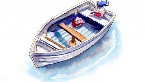 Day 3 - A Little Boat Adrift - #doodlewashJune2018 Doodlewash