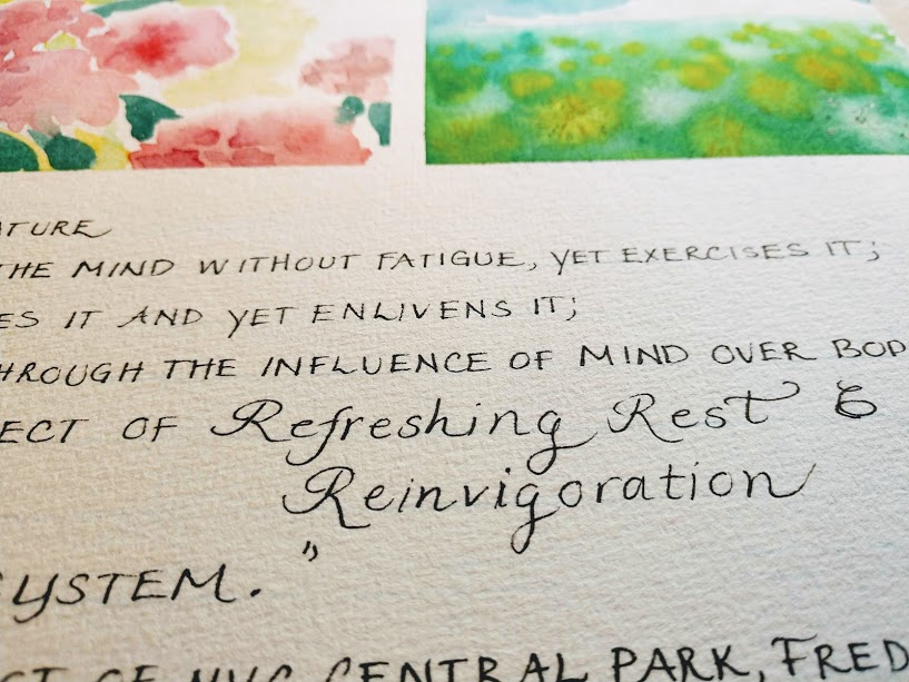 Hahnemühle Expression 100% cotton watercolor paper lettering example