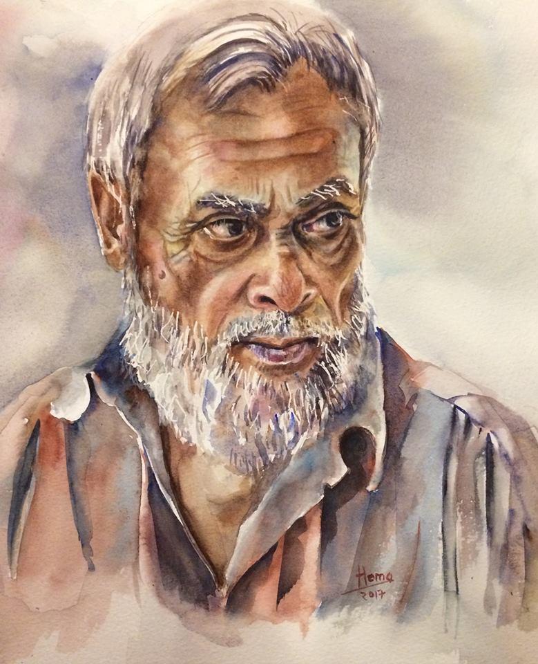 Watercolor Painting by Hema Gupta - Doodlewash #WorldWatercolorGroup