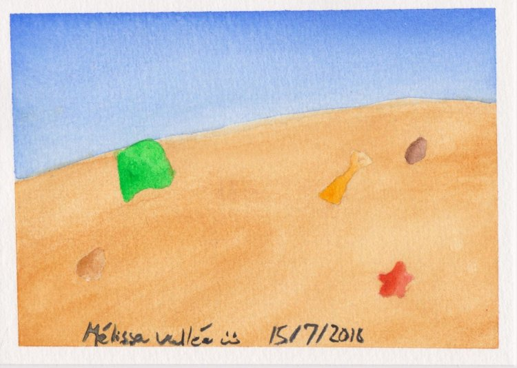 #WorldWatercolorMonth Day 15: On the beach 017