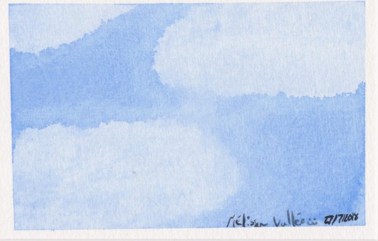 #WorldWatercolorMonth Day 27: Cloud in the sky 029