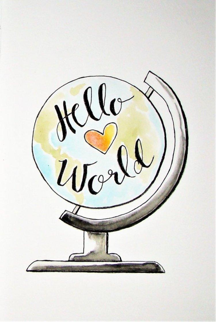 Hahnemüle Watercolor Art Journal 1 Hello World