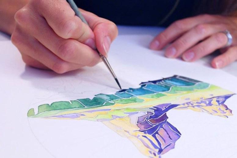 Watercolor Painting Esther Moorehead - Doodlewash