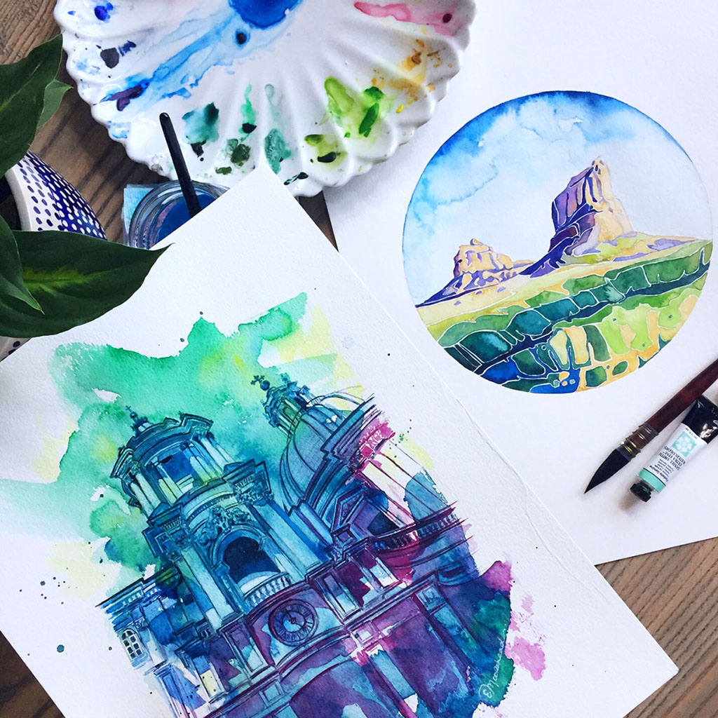 Watercolors by Esther Moorehead - Doodlewash