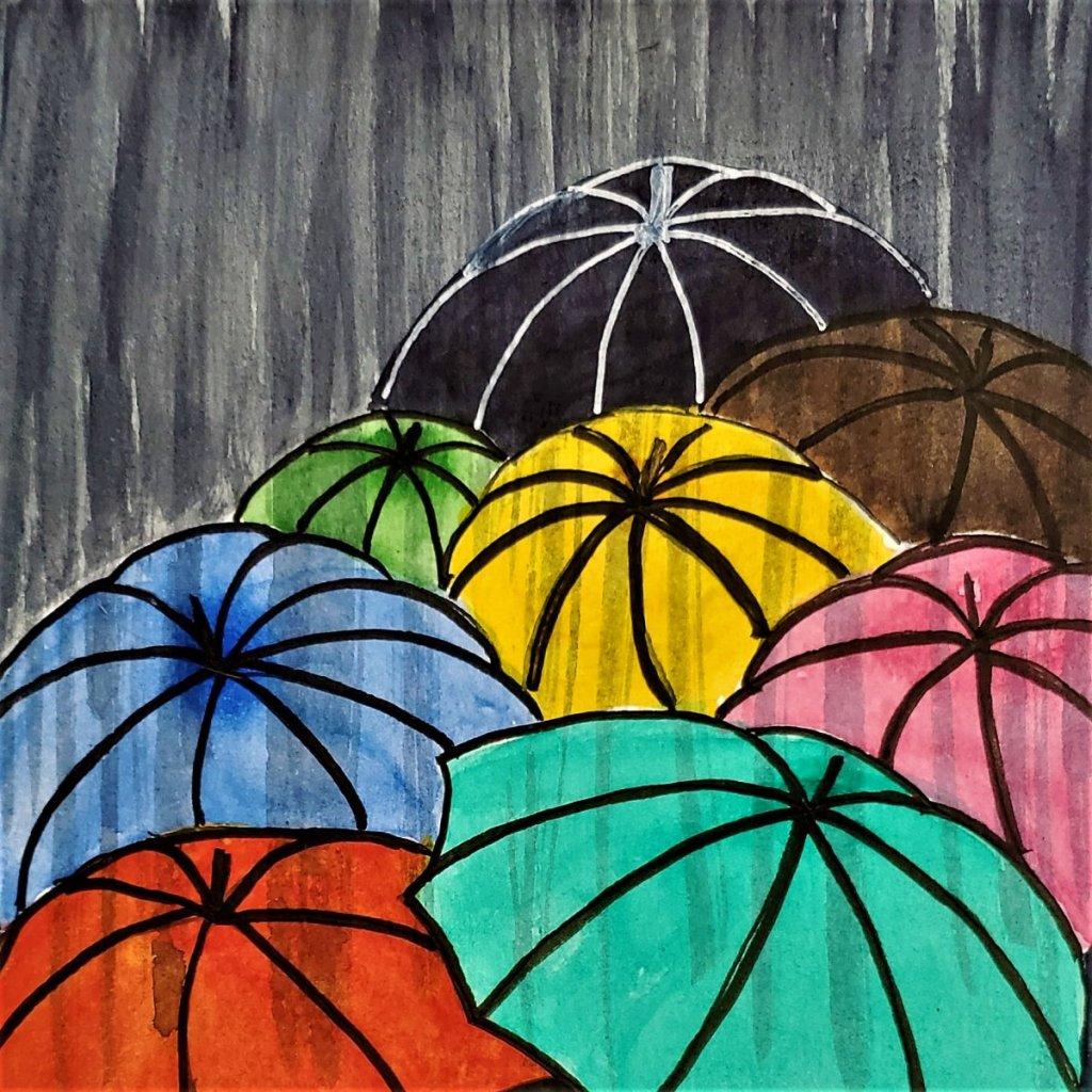 #WorldWatercolorMonth 2018 Prompt 19 Rainy Days 19 Rainy Days