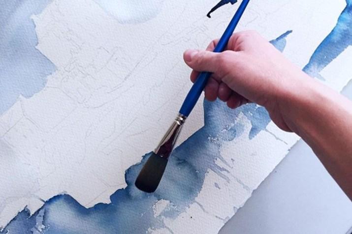Eileen Donan Castle watercolor by Esther Moorehead - Doodlewash