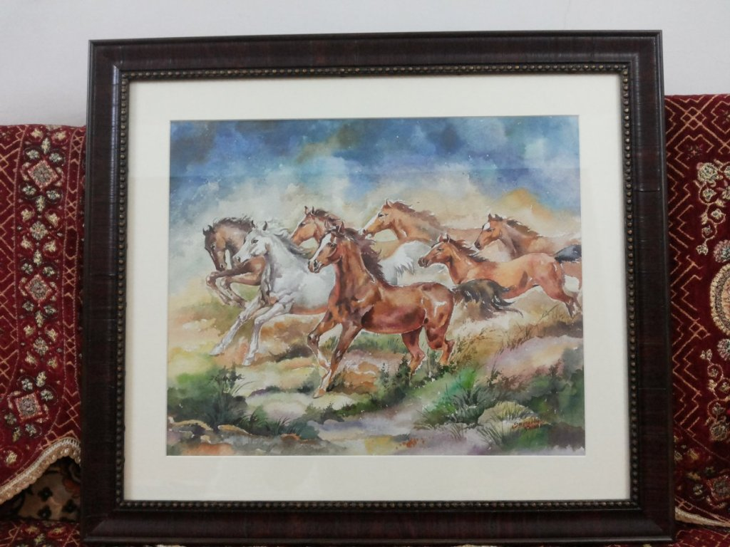Watercolor painting Running Horses 20161213_204911
