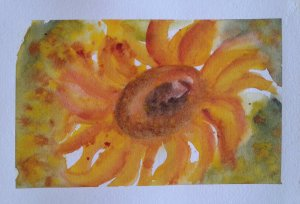 Day 386…glorious golds I envisioned a beautiful glowing sunflower in shades of yellow and gold